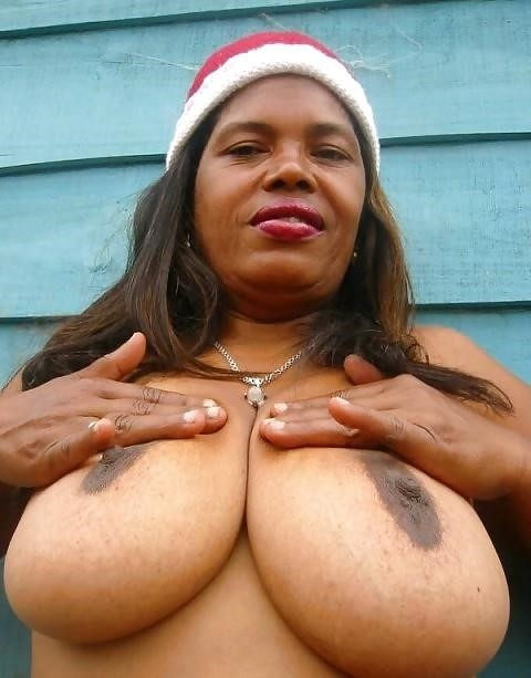 Big black tits sex-3760