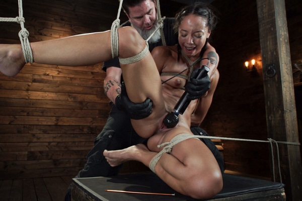 HogTied - Alexis Tae - First Time Being tormented in Grueling Bondage (2019)