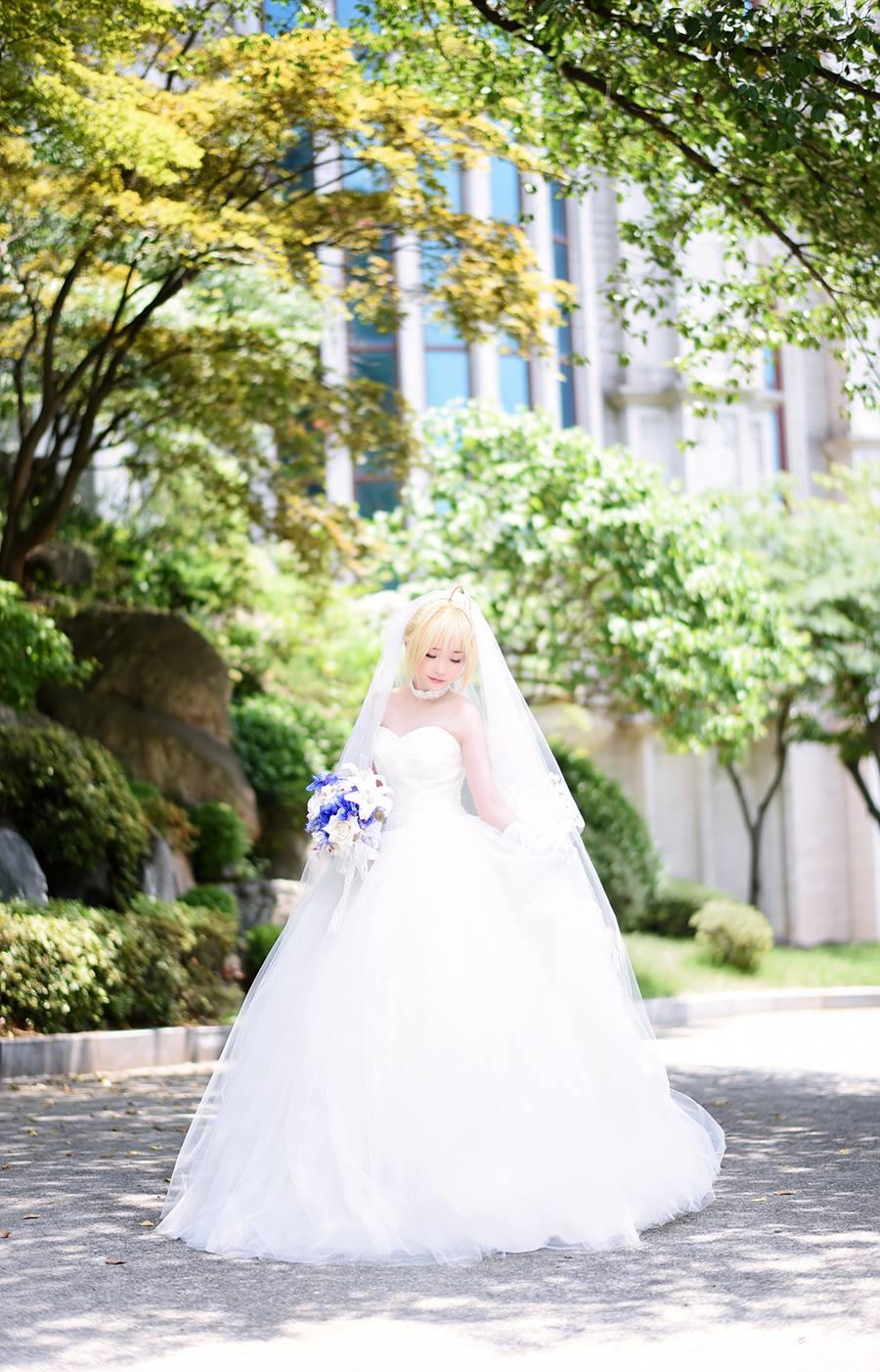 [动漫 COS]婚纱 Saber 动漫 COS