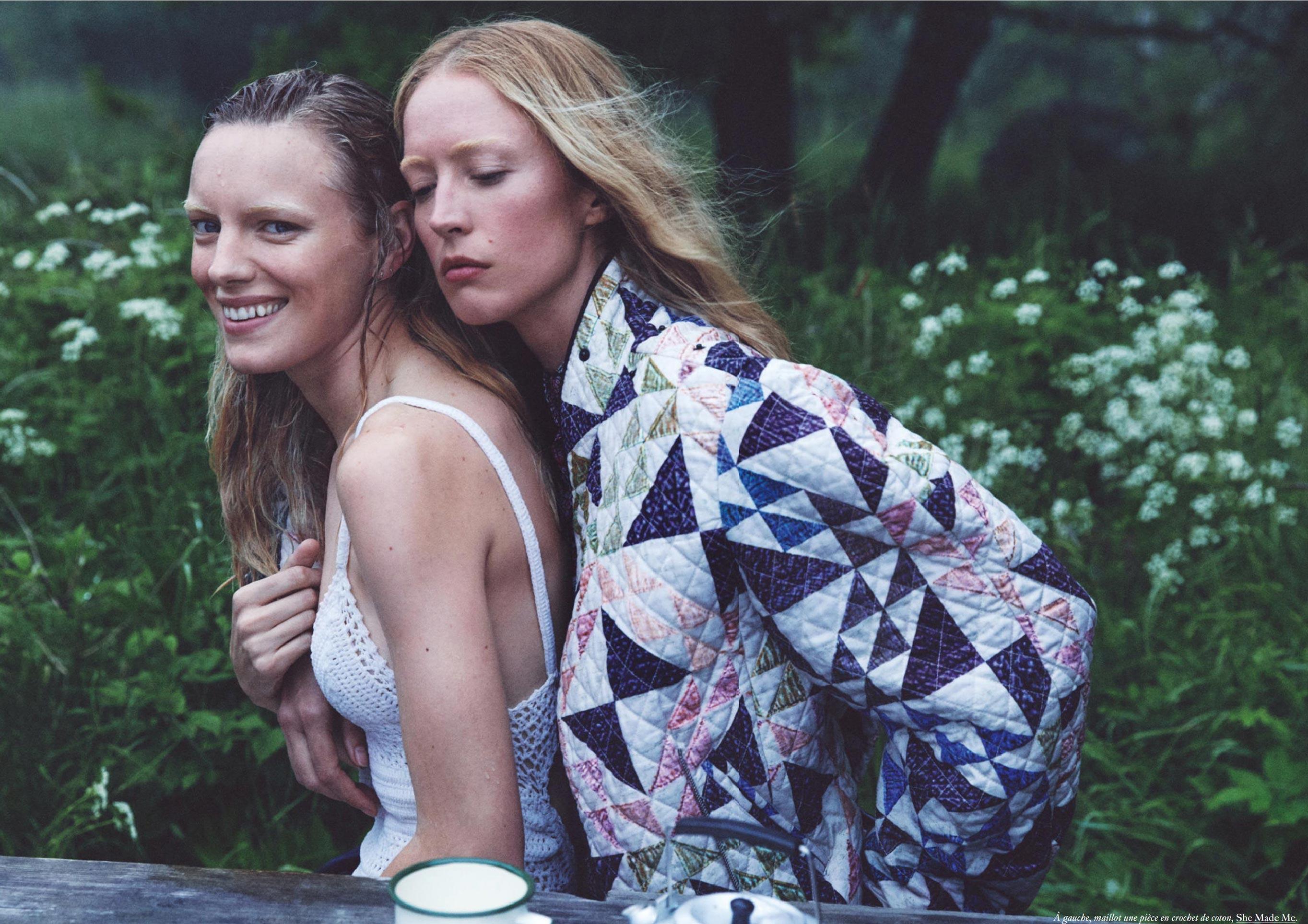 Бразильская модель в гостях у шведской - Эрика Линдер и Ракель Циммерман / фото 19