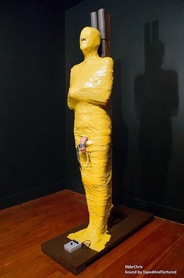 Mummification bondage girl-3436