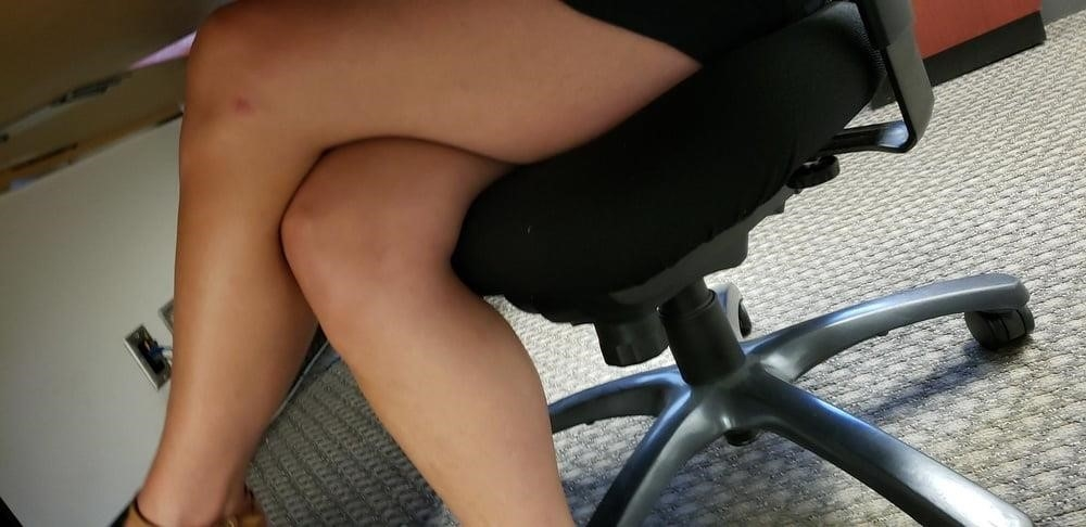 Under the desk foot worship-6758