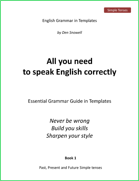 All You Need To Speak English Correctly Quick Visual Reference Guide
