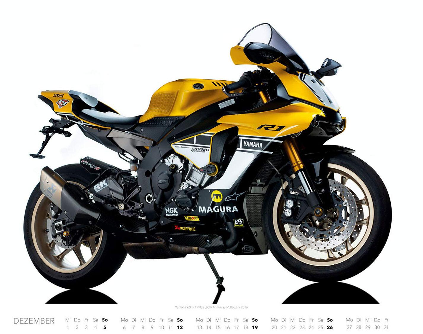 Календарь с крутыми мотоциклами на 2021 год / декабрь