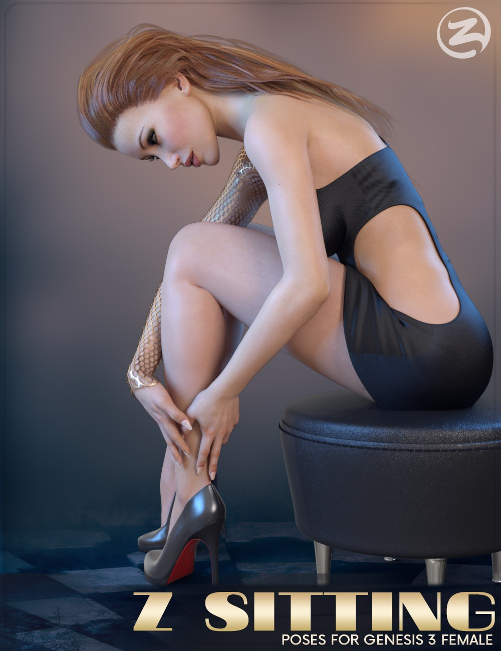 Z Sitting - Poses for Genesis 3 Female