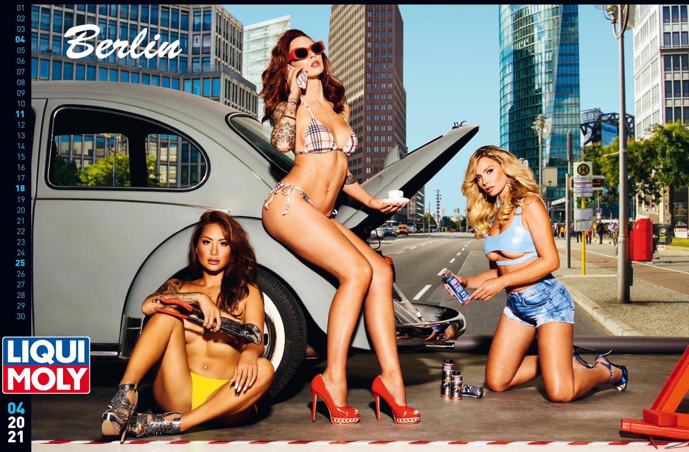 Фирменный календарь с девушками автоконцерна Liqui Moly на 2021 год / апрель 2021