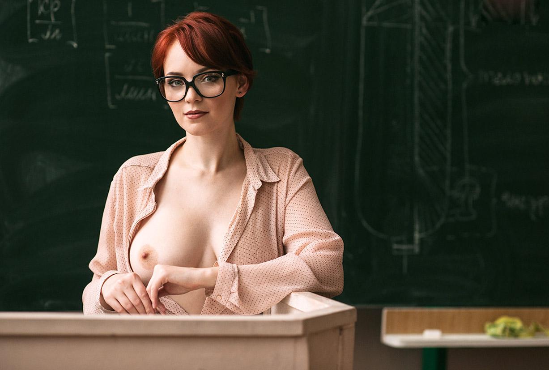 Сексуальная училка с пышными формами Анна Грей / Anna Grey by Sergei Lenin