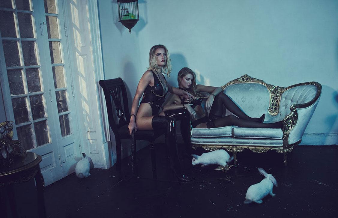 Дарья, Модеста и кролики / фото 01