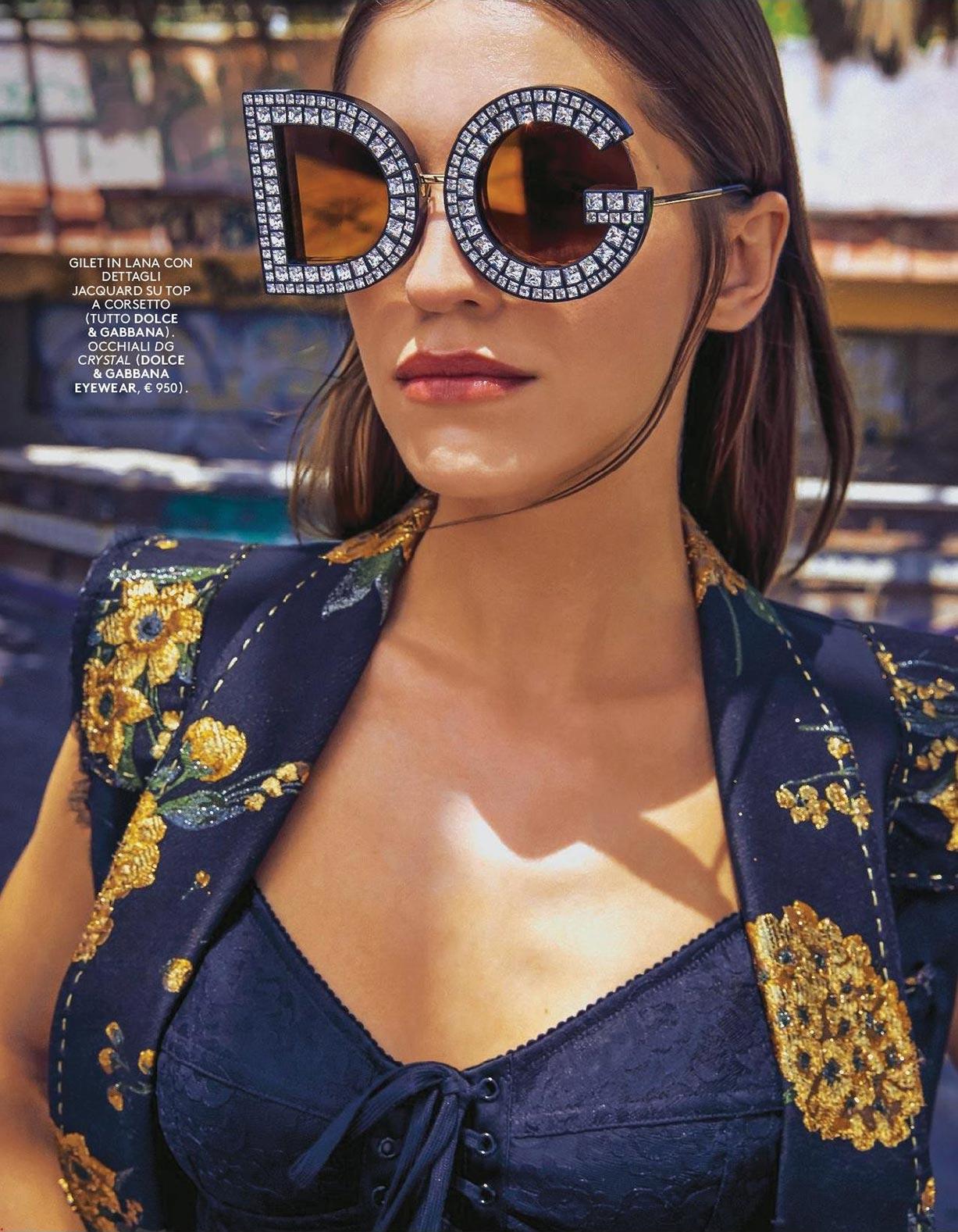 Модные солнцезащитные очки / Sguardi di Sole / Samantha Gradoville by Fred Meylan / Grazia Italy june 2018