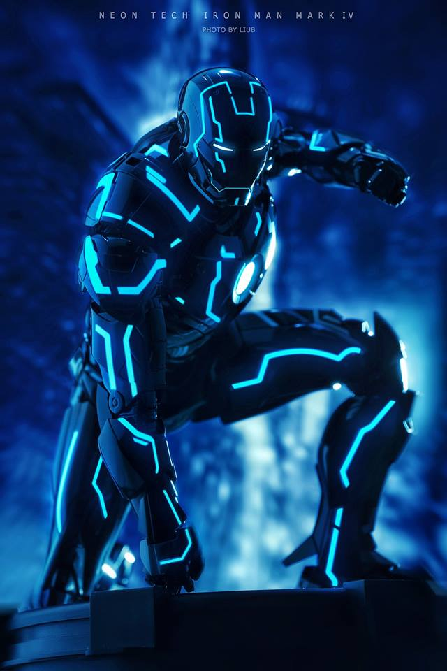 "Iron Man 2 - Mark IV Neon Tech ""Toy Flair Exclusive 2018"" 1/6 (Hot Toys) WGY9v5vL_o"