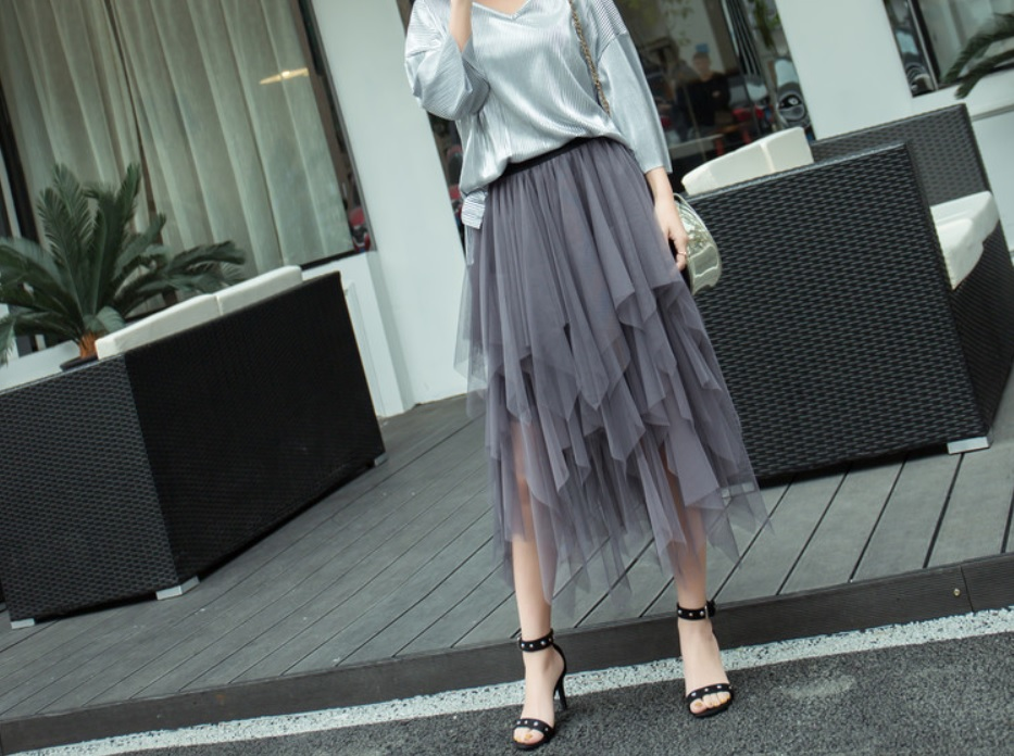 Röcke Gonna In Tulle Asimmetrica Lunga Gothic Tutu Tulle Multilayer Asymmetric Skirt Kleidung Accessoires Cloudwalks Co Uk
