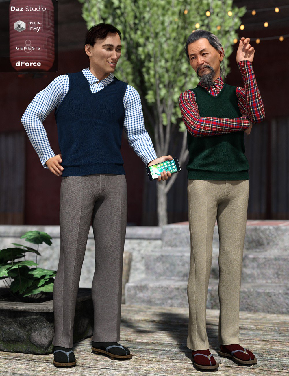 Sweater Vest Outfit Textures (Genesis 8 Male)