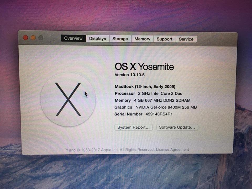 Thanh lý 1 em Macbook White giá chỉ 2t5 - 3