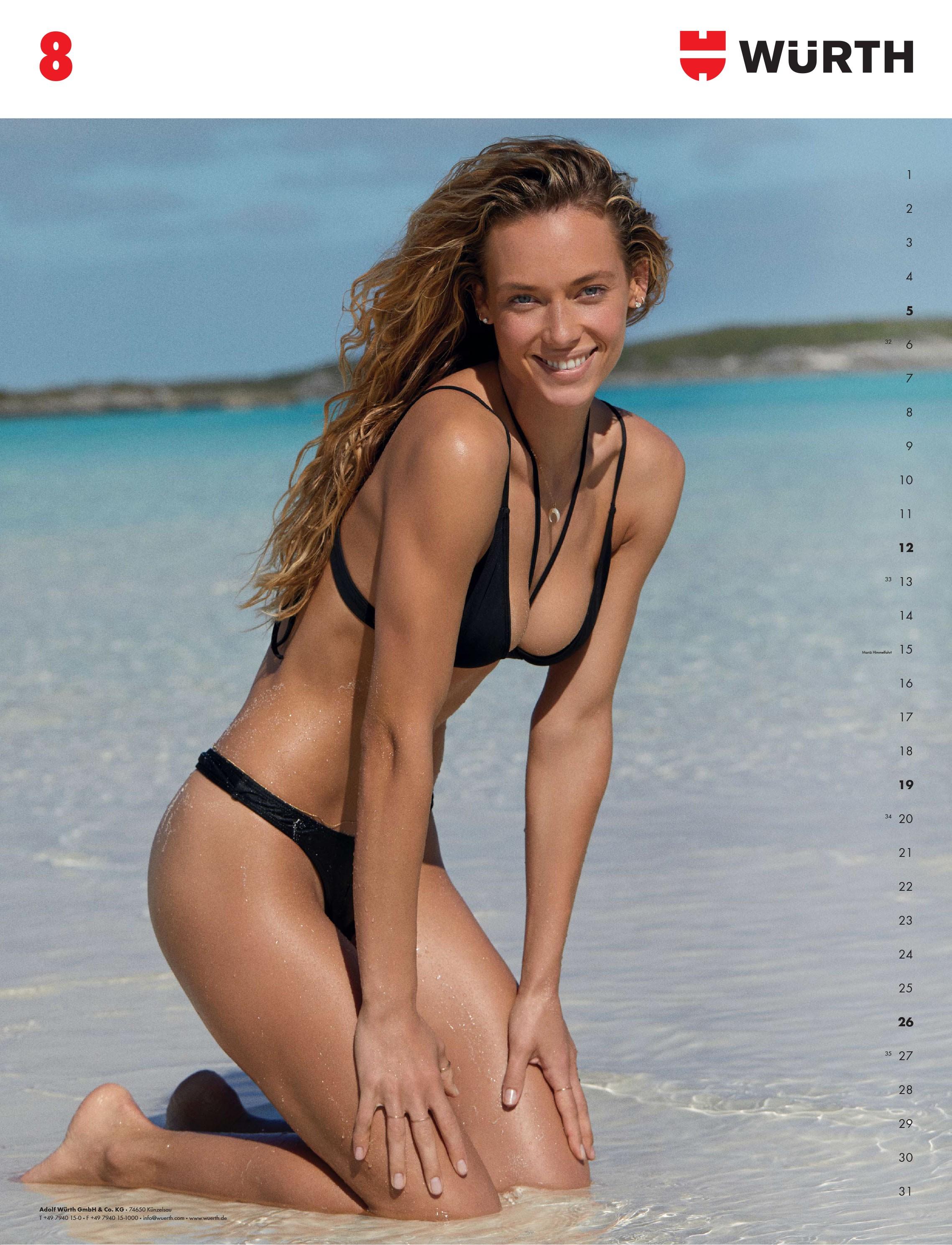на пляжах Багамских островов / календарь с сексуальными девушками Wurth 2018 calendar