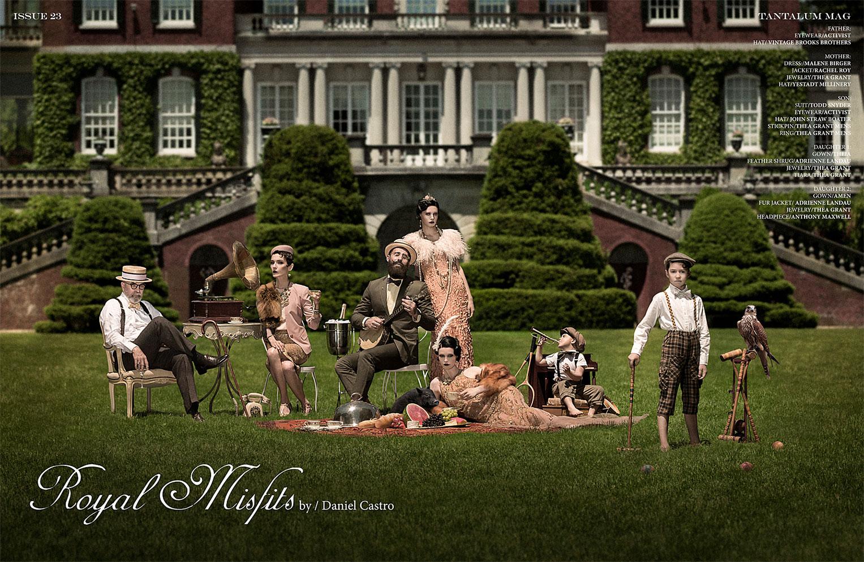 Royal Misfits / Oxana, Sasha, Gianluca, Michael Novick, Susannah Bianchi, Land Grant, Grey Bazzani Grant by Daniel Castro / Tantalum Magazine july 2013