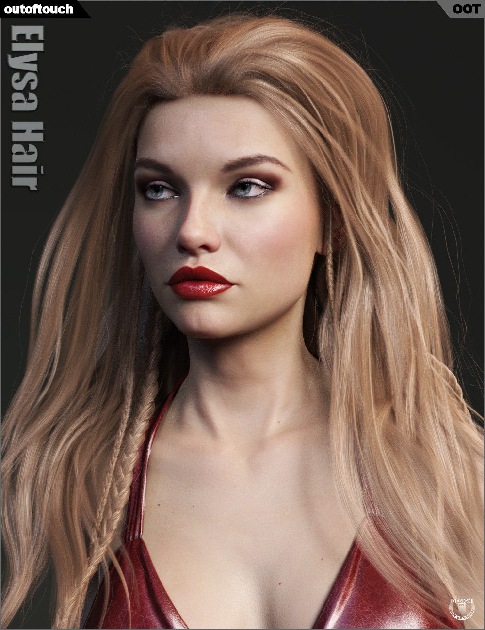 Elysa Hair for Genesis 3 and 8