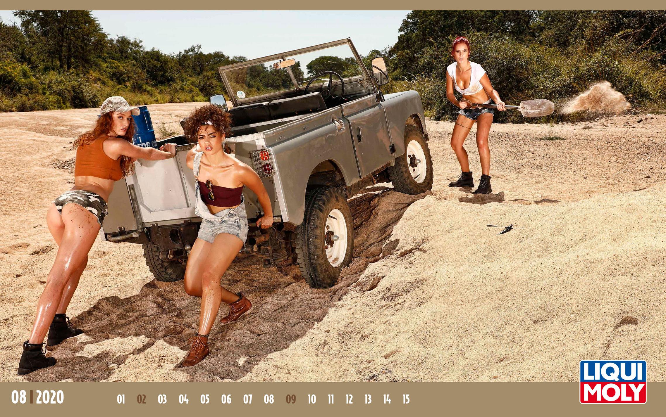 Календарь с девушками автоконцерна Liqui Moly, 2020 год / август-1
