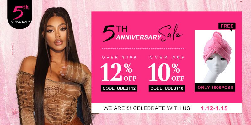 The UNice 5th-anniversary sale details: