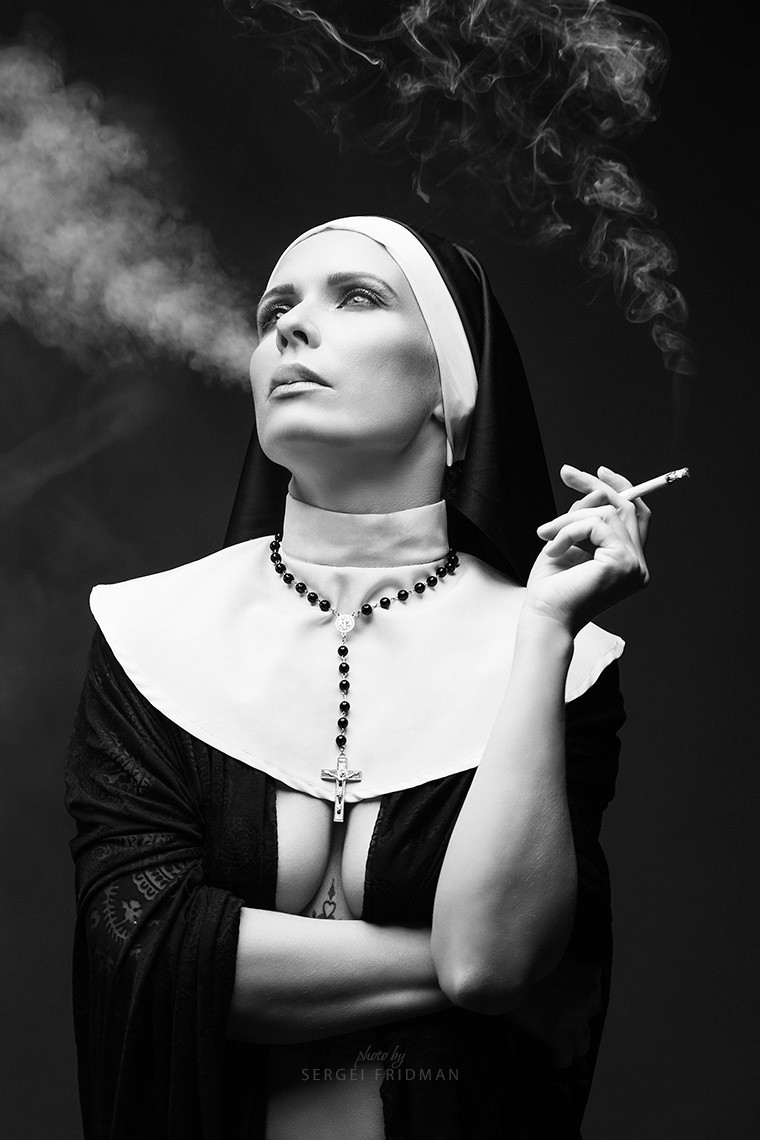Erotic nun - Kärol Emilie Kõu by Sergei Fridman
