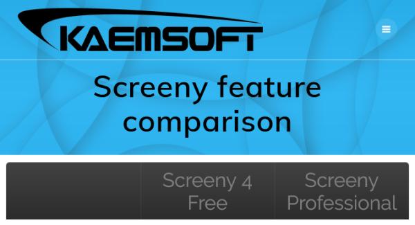 compare edition screeny