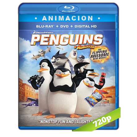 Los Pingüinos De Madagascar (2014) BRRip 720p Audio Trial Latino-Castellano-Ingles 5.1