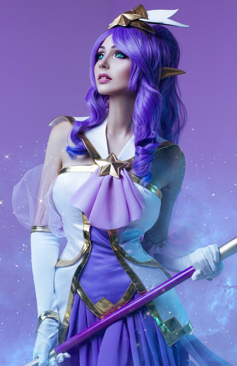 Cosplay / Bellatrix Aiden в роли Star Guardian Janna из вселенной League of Legends / фотограф Tim Rise