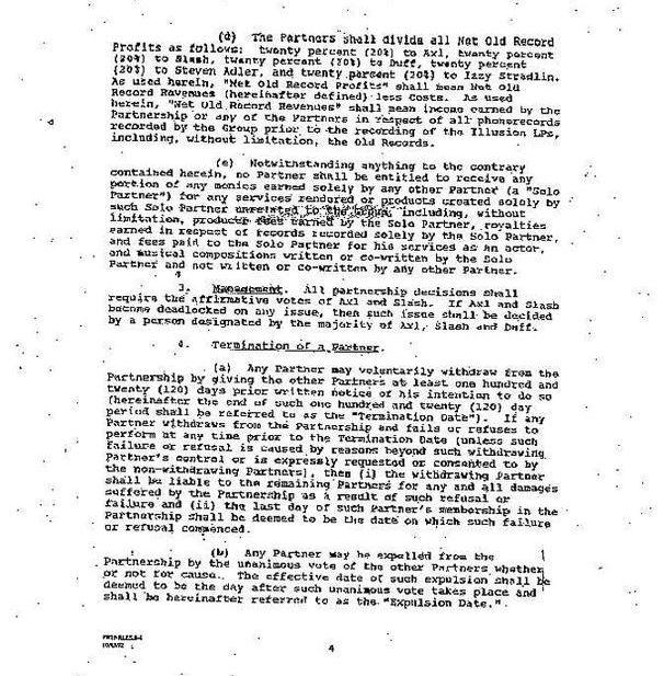 1992.10.DD - Guns N' Roses Partnership contract (Memorandum of Agreement) ErnqAtnr_o