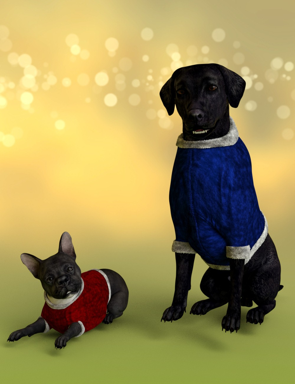 Christmas Suit for Daz Dog 8