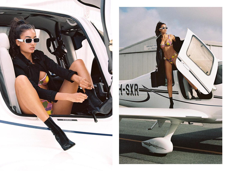 Келли Гейл в купальниках модного бренда Bamba Swimwear, лето 2020 / фото 04