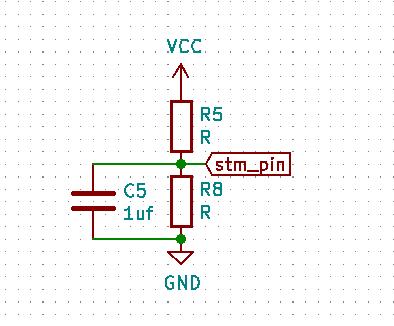 voltage divider for input voltage sense (R5 R8 C5(1uf))