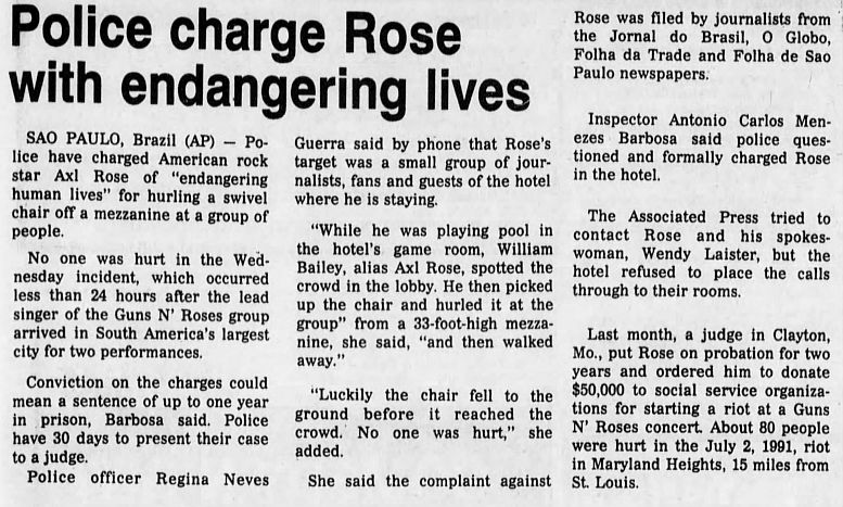 1992.12.11 - The Pantagraph/Associated Press - Police charge Rose with endangering lives K8xcl53C_o