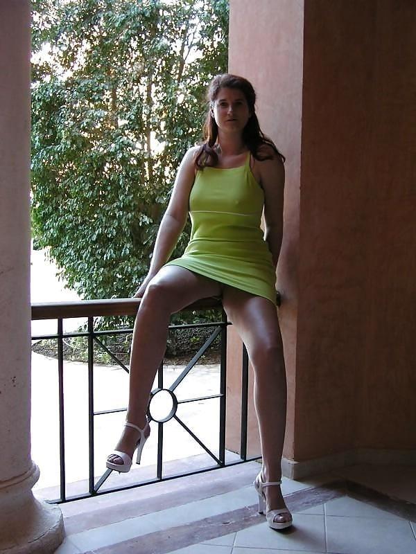 Public up skirt no panties-2973