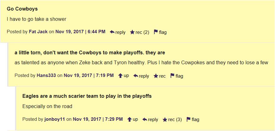 Go Cowboys Beat Eagles