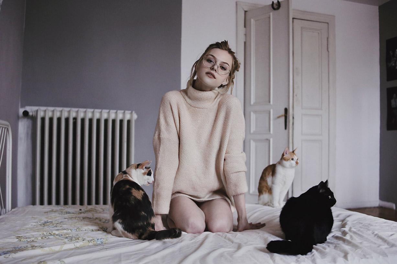 В гостях у кошек и их хозяки, художницы Марики / фото 13