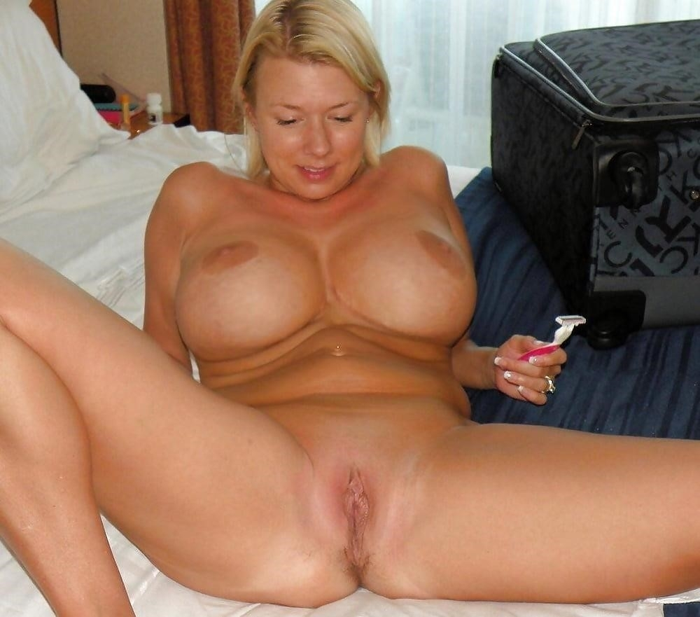 Short blonde with big tits-6817
