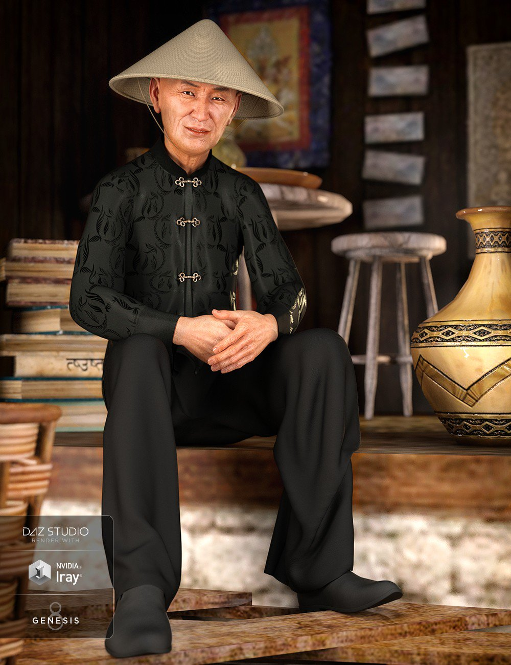 dForce Traditional Outfit for Genesis 8 Male(s)