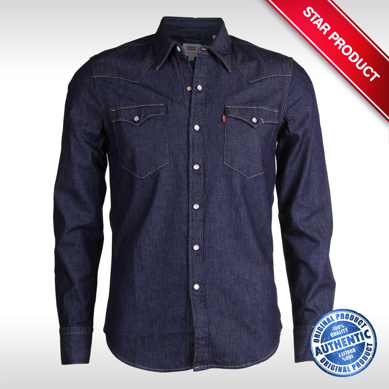 2e599773ef6 LEVI'S Men's 65816-0115 Barstow Western Long Sleeve Denim Shirt - XL ...