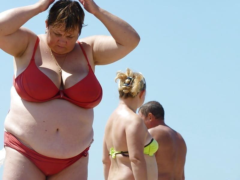 Nude big boobs on beach-7239
