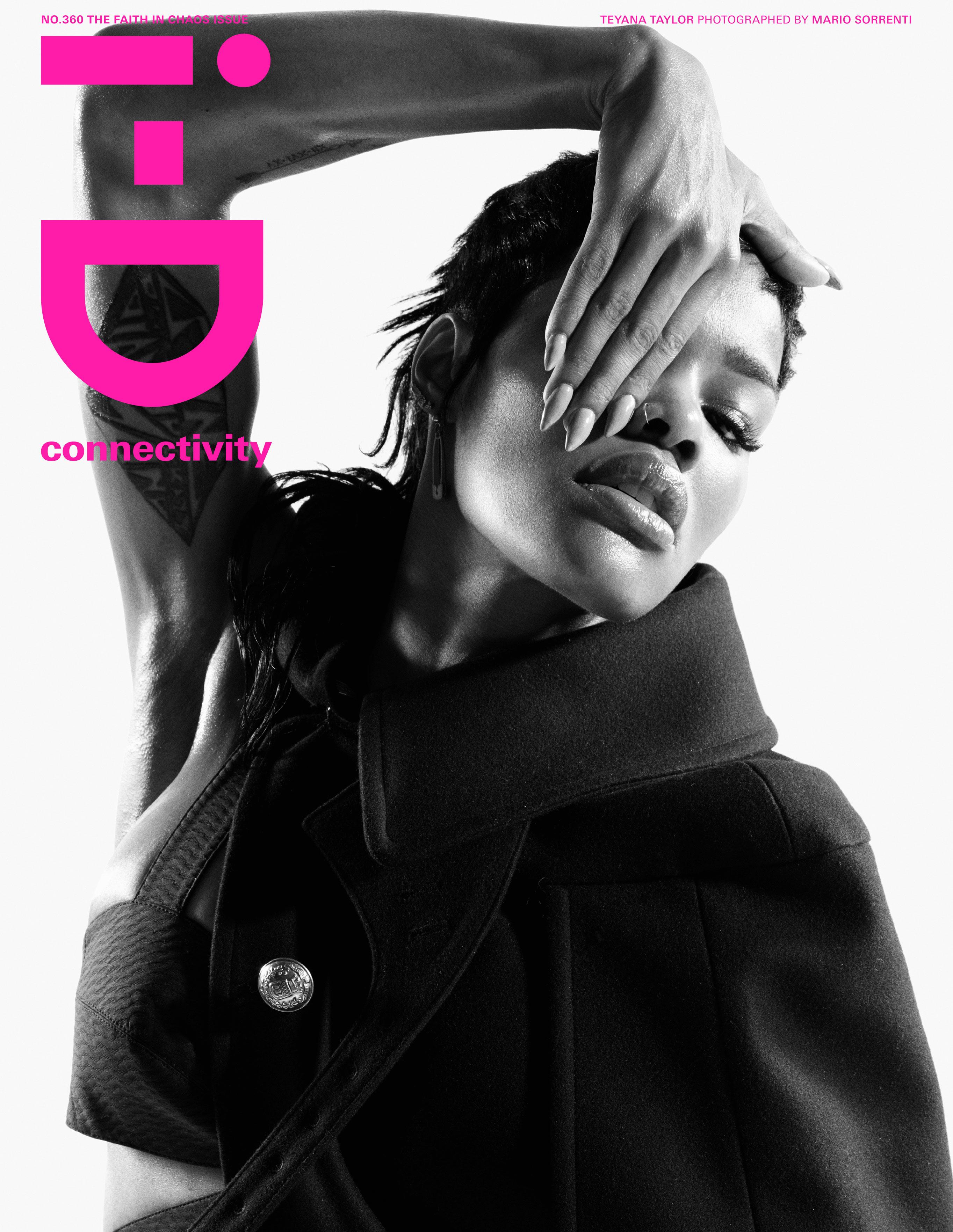 Тейяна Тейлор в хаос-выпуске журнала i-D, лето 2020 / обложка