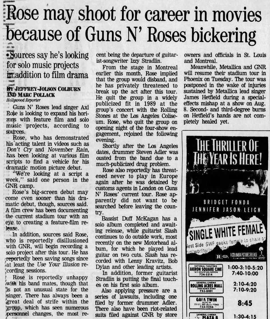 1992.08.23 - The Akron Beacon Journal/Hollywood Reporter - Rose may shoot for career in movies (Axl) ZvBqDv27_o