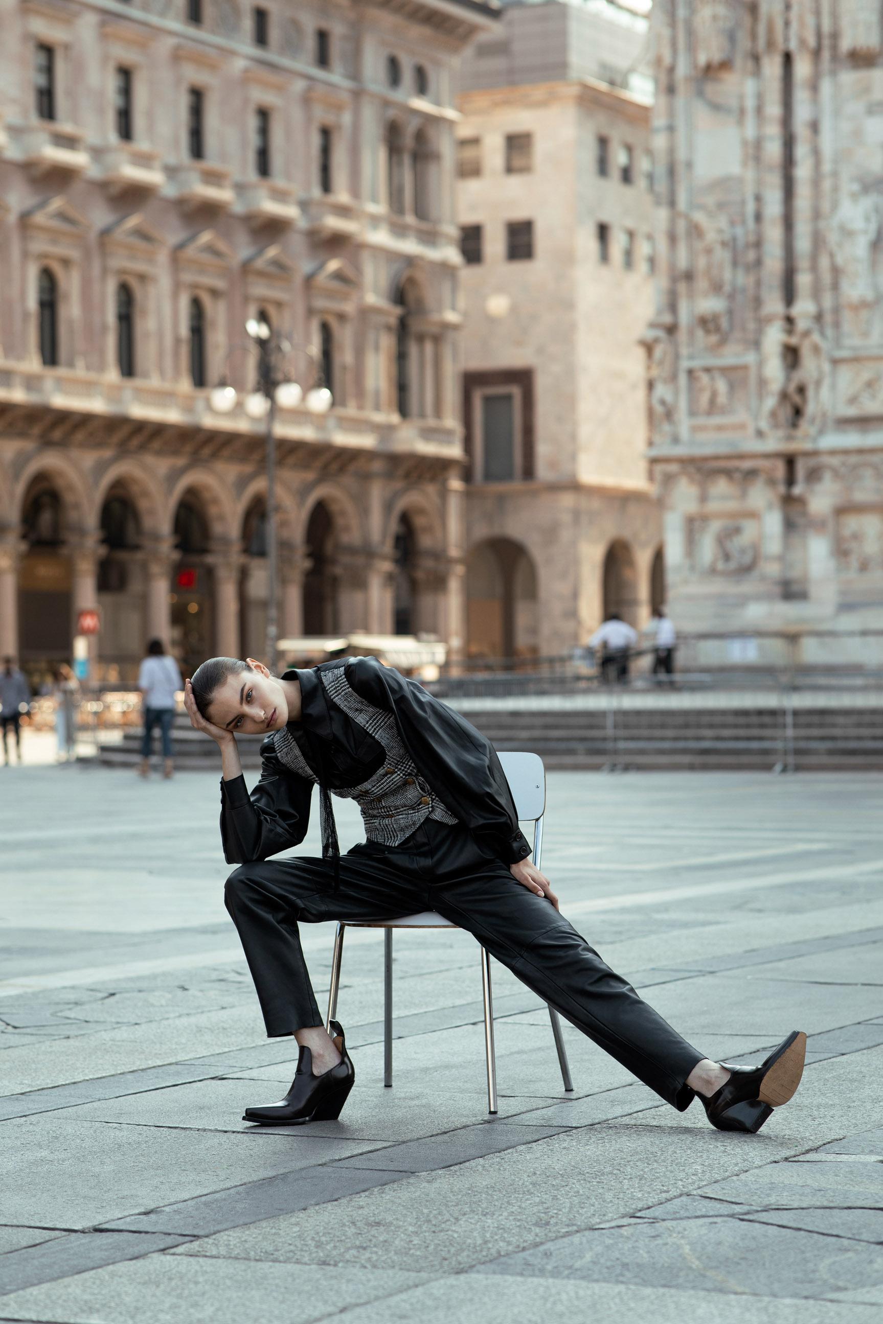 Паула Чиолтян на улицах Милана / фото 13