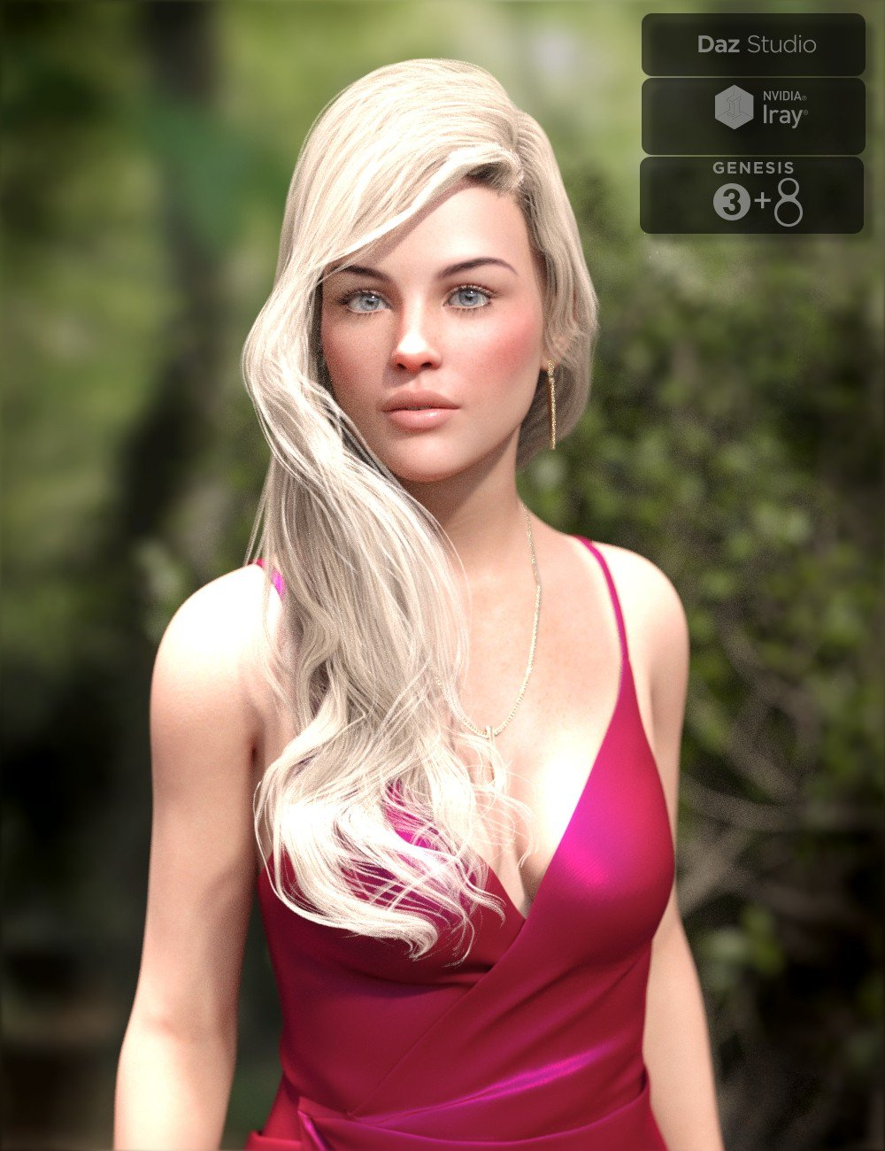 Angel Glam Hair for Genesis 3 and