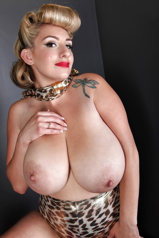 Blonde big tits selfie-6846