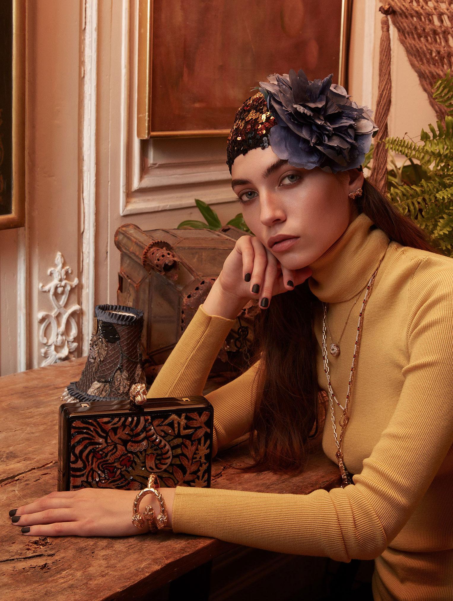Елена Карьере в модной одежде Gucci, коллекция осень-зима 2019/20 / фото 08
