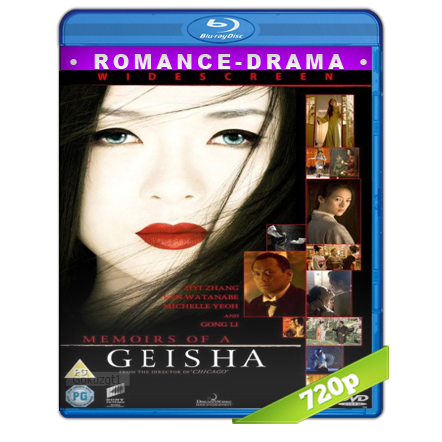descargar Memorias De Una Geisha [BDRip m720p][Trial Lat/Cast/Ing][VS][Drama](2005) gratis
