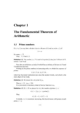 Elementary Number Theory and Primality Tests-ln