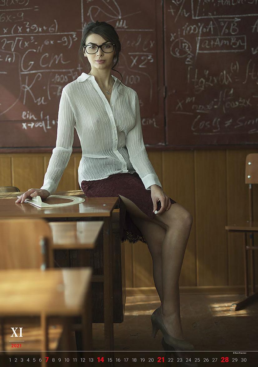 Эротический календарь -Очарование момента 2021- фотографа Давида Дубницкого / ноябрь