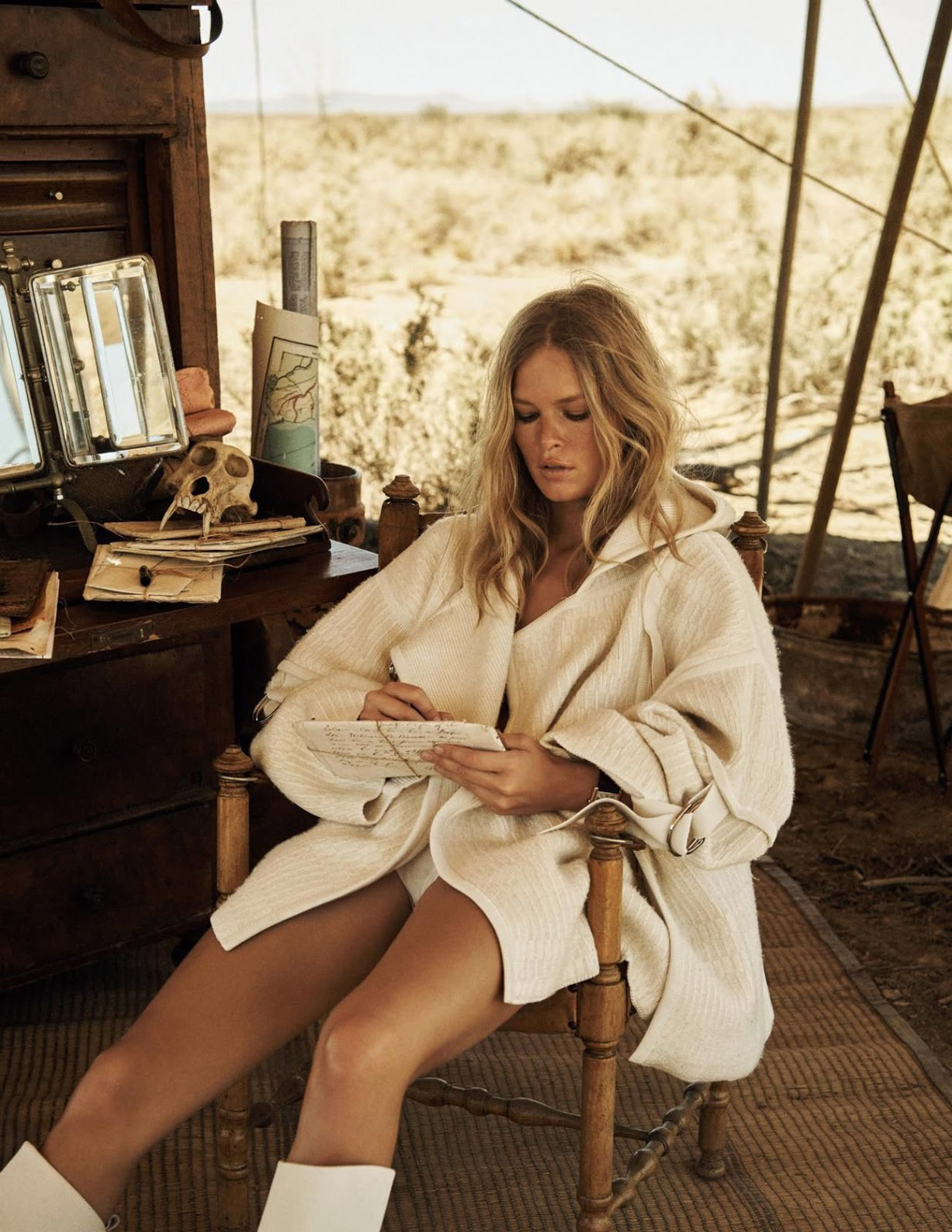 Out Of Africa / Anna Ewers by Lachlan Bailey / Vogue Paris april 2019