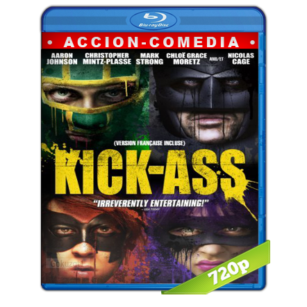 Kick-Ass 1 (2010) BRRip 720p Audio Trial Latino-Castellano-Ingles 5.1