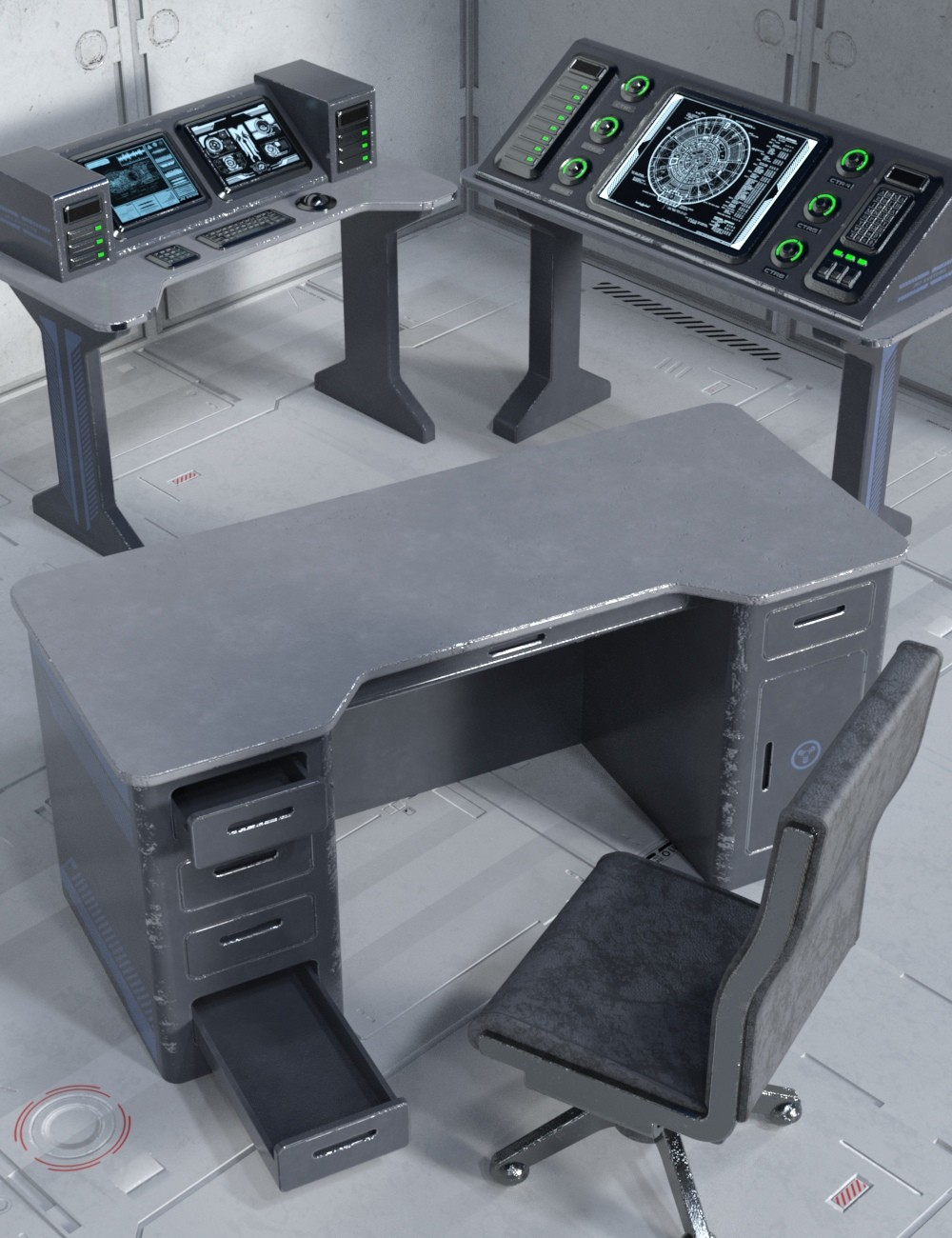 Sci-fi Desks and Chair